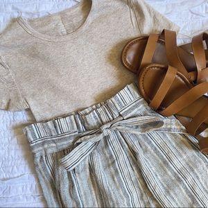 Striped High Waisted Pants | Medium